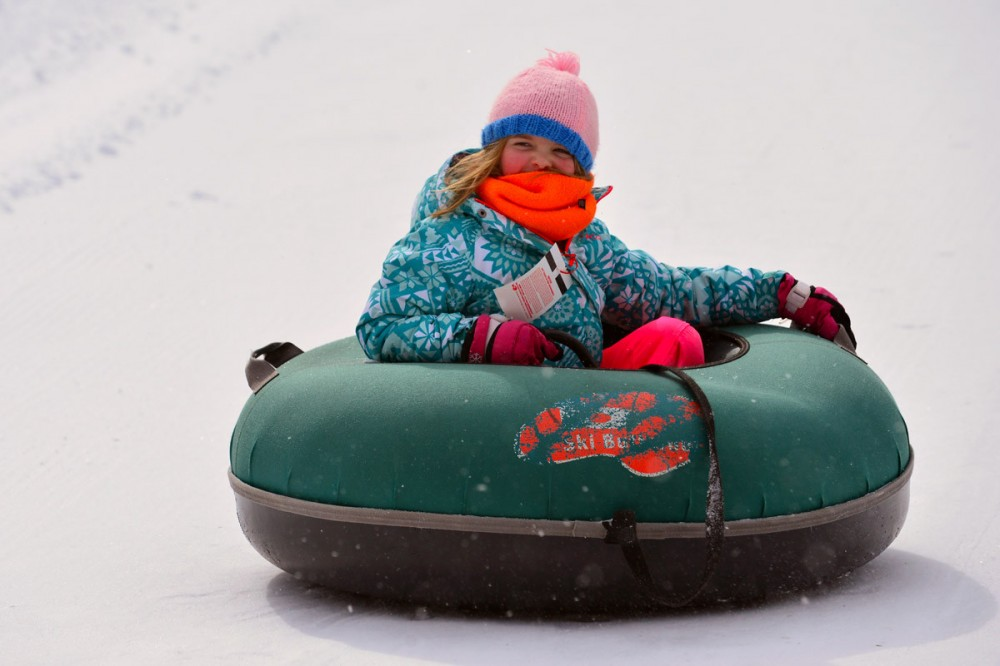 Feb 16 - S. Berkshires Winter Carnival Tubing  - Lots of Kids laughing, giggling and flying down the mountain!